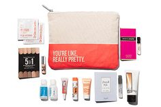 Gift with purchase: YOU'RE LIKE, REALLY PRETTY bag with women's beauty and fragrance samples. Use promo code CORAL.