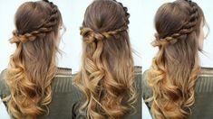 Half Up Half Down Rope twist Hair Idea | Prom Hairstyles | Braidsandstyl...