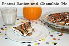 Peanut Butter and Chocolate Pie! Getting Ready for The Peanuts Movie #PeanutsMovie #ad #Recipe