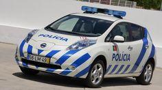 Nissan LEAF police car. Cute!