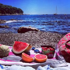 Authentic fruit breakfast on the beach i