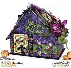 Scrap, Travel, and Bark! Hallowe'en in Wonderland collection candy house.