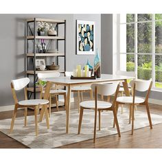 Found it at Wayfair - Broadus Retro Modern Dining Table