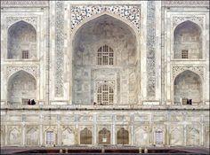 Taj Mahal Interior Detail.