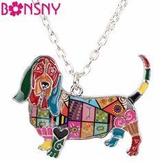 Find More Pendant Necklaces Information about Bonsny Statement Enamel Alloy Basset Hound Dog Necklace Pendants Choker Chain Collar Fashion Jewelry Animal Souvenir For Women,High Quality fashion choker,China fashion necklace Suppliers, Cheap necklace fashion from Bonsny Official Store on Aliexpress.com
