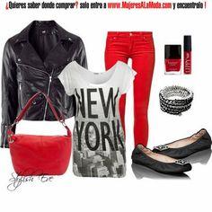 Combinaciones con negro y rojo
