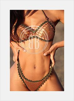 bronze beauty bikini by beijobaby on Etsy