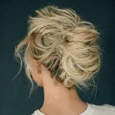 Pretty messy updo hairstyle perfect for any event you love to try - This stunning wedding hairstyle for long hair is perfect for wedding day,Wedding Hairstyle ideas