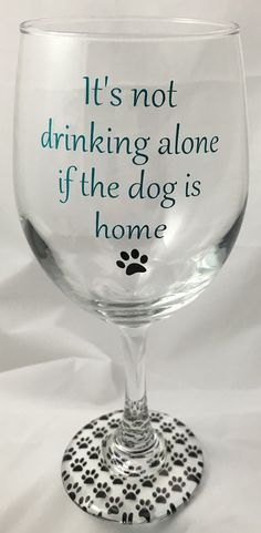 It's not drinking alone if the dog is home Dog door JennsCraftRoom