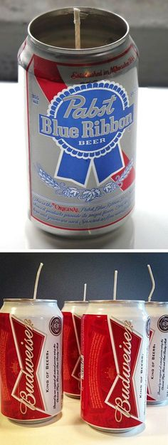 Recycled Beer Can Candle ❤︎  #inspiration #diy #recycle