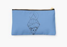 Geometric mountain in a diamonds with moon (tattoo style - black and white) by #Beatrizxe | #redbubble #pouch Several mountains are enclosed in two overlapping diamonds or rhombs. A crescent moon escapes of the diamonds and it seems a optical illusion #Geometric  #illustration #mountain #diamond #rhomb #moon #optical #illusion #ink #tattoo #line #pointillism #design #sketch #doodle #minimal #minimalism #mountains #night #minimalist
