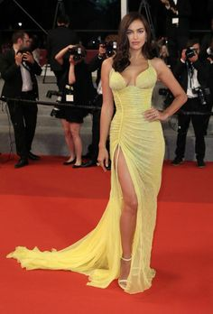 """Irina Shayk Photos - Irina Shayk attends the """"Hikari (Radiance)"""" screening during the annual Cannes Film Festival at Palais des Festivals on May 2017 in Cannes, France. - 'Hikari (Radiance)' Red Carpet Arrivals - The Annual Cannes Film Festival Irina Shayk Photos, Elegant Dresses, Sexy Dresses, Nice Dresses, Party Dresses, Versace Gown, Yellow Gown, Red Carpet Dresses, Red Carpet Fashion"""
