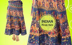 This is stylish printed cotton jaipur print Skirt on @Handicrunch