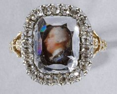 A portrait diamond - a flat diamond that is so flawless the portrait of George III is visible underneath.  Created by Jeremiah Meyer in 1761, currently housed at the Royal Collection Trust