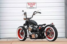 Would love to have this in my driveway. Old Skool Bobber with Apes | Flickr - Photo Sharing!