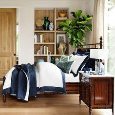 $89 - $469 Williams-Sonoma Chambers Washed-Linen Border Bedding in 7 border colors (white is middle always). $399 Queen Duvet cover. $89 each standard sham.