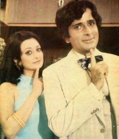Shashi Kapoor and Saira Banu Old Film Stars, Shashi Kapoor, Vintage Bollywood, Bollywood Actors, In The Heart, Film Posters, Historical Photos, Vintage Posters, Couples