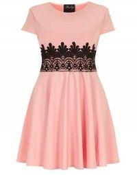 abito rosa plus size