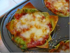 2 WW points+  Lasagna cups with won ton wrappers