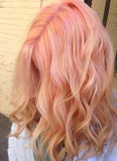 In loveeee with this. hmmmm might dye my hair-- pastel peach hair. In loveeee with this. hmmmm might dye my hair Dye My Hair, New Hair, Blorange Hair, Hair Art, Cheveux Oranges, Coloured Hair, Colored Hair Summer, Gold Hair, Pretty Hairstyles