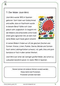 Deutsch Grammatik: Nomen und Malerei