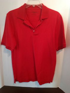 Croft And Borrow Mens Red Polo Uniform School Work Small
