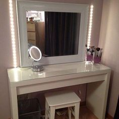 all white makeup vanity. white  Makeup Vanity 13 Fun DIY Organizer Ideas For Proper Storage Ikea desk