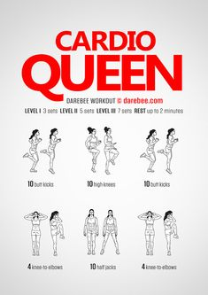 DAREBEE Workouts More from my site Mit Jumping Jacks in 30 Tagen zum Traumbody Whitney speeds things up with this Leg Day HIIT workout! Try these Cross Over Sq… Butt, Abs, Shoulders & Cardio Workout Cardio Workout At Home, Gym Workouts, Short Workouts, Beginner Cardio Workout, Fitness Exercises, Cardio Exercises At Home, Training Exercises, Workout Diet, Cardio Hiit