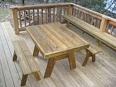 Quality Patio Furniture - Heavy Duty Picnic Table with Detached Benches