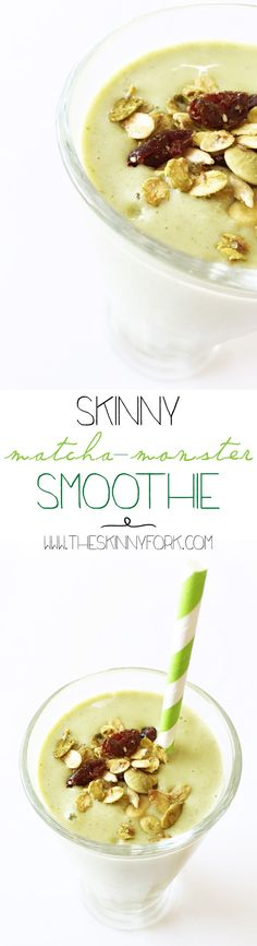 Skinny Matcha-Monster Smoothie - Lean, green, and clean green matcha ...