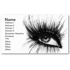 makeup artist eyelashes card business card templates