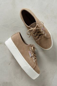 Slide View: 1: Superga Suede Sneakers