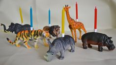 Zoo Birthday Party Candles by HappyNotesInteriors on Etsy, £18.50