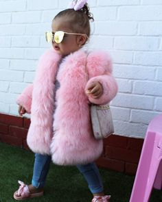 All Pink Fur Coat
