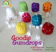 DIY Felt Gumdrop Ornament Tutorial - American Felt and Craft