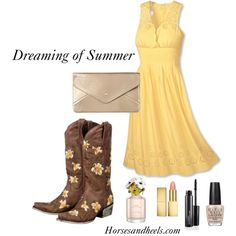 """""""The Little Yellow Dress"""" by horsesandheels on Polyvore"""