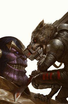 Thanos Vs. Rocket Racoon | David Rapoza