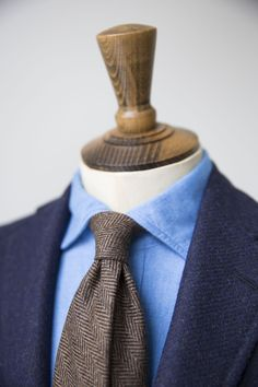 drakes-diary: Wool Herringbone Tie Available at No.3 Clifford Street or our Online Shop