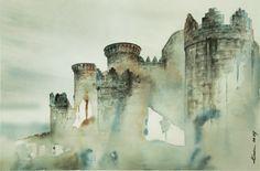 Castillo de Belmonte (Cuenca) Acuarela / Watercolor 45x65cm. 2014 Francisco Guerra Blog