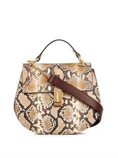 Drew large snakeskin shoulder bag | Chloé | MATCHESFASHION.COM