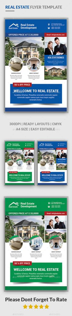 Real Estate Flyer Real estate flyers and Flyer template - for rent flyer template