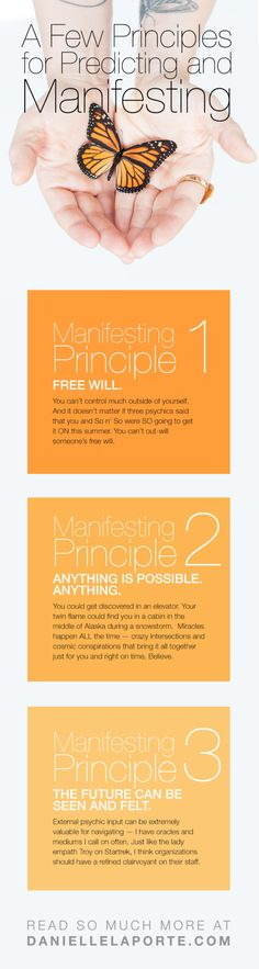 The problem with manifestation techniques and what that psychic told you. (Plus 9 principles for predicting and manifesting.)