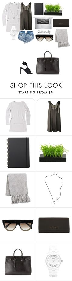 """""""Untitled #78"""" by jadetuncdoruk ❤ liked on Polyvore featuring Witchery, Enza Costa, Muji, Pier 1 Imports, CÉLINE, Givenchy, Yves Saint Laurent, Marc by Marc Jacobs and Senso"""