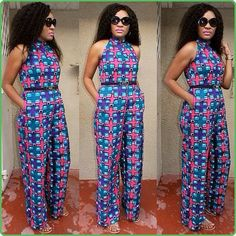 African Print Jumpsuit Ankara Jumpsuit African by DiagossaCouture