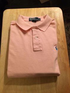 Men's POLO BY RALPH LAUREN Golf Shirt - Long Sleeve- Pink - Size M…