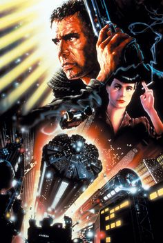 """Blade Runner (Cover) Picture from Soundtracks. Soundtrack cover for """"Blade Runner"""", composed by Vangelis. """"Blade Runner"""" is a 1982 American dystopian science fiction action film directed by Ridley Scott and starring Harrison Ford. Iconic Movie Posters, Movie Poster Art, Iconic Movies, Top Movies, Poster Wall, Pulp Fiction, Science Fiction, Johnny Depp, Blade Runner Poster"""