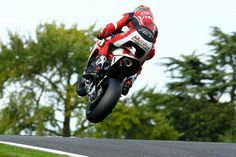 Josh Brookes big air over the mountain at Cadwell Park