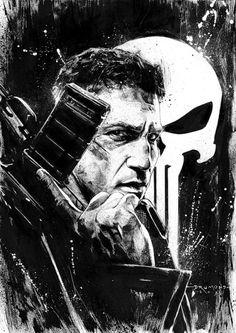 Punisher (Jon Bernthal) from Marvel's Daredevil by Drumond Art