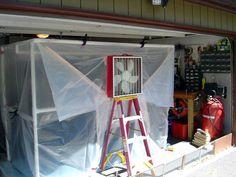 PVC spray paint booth...
