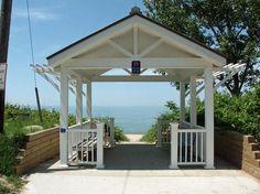 Stop 39 Lake Michigan Lakeside Living, Lake Michigan, Gazebo, Outdoor Structures, Home, Kiosk, Pavilion, Ad Home, Homes